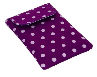 REDUCED in SALE Ipad Mini Cover, Purple Plum Polka Dots, Kindle Case, Handmade Tablet Cover, UK Seller
