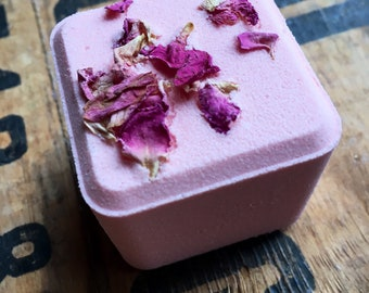 Bergamot Grapefruit Scented  - Square Bath Bomb - 3.5 oz   - Dead sea salt - Grapeseed oil - Spa day - Lovely gift - Square is the new round