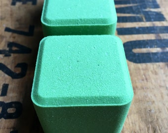 Fresh Green Apple  - Square Bath Bomb - 3.5 oz   - Dead sea salt - Grapeseed oil - Spa day - Lovely gift - Square is the new round