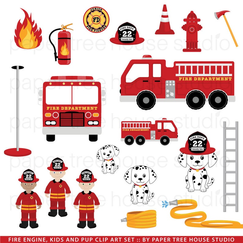 d47d22e4f98 Fire Truck Clip Art. Firefighters. Fire Station Clip Art. Fire