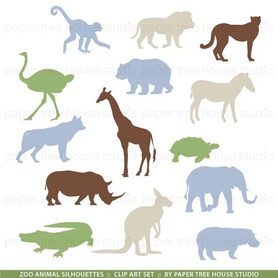Zoo Clip Art. Safari Clip Art. Animal Clipart. Giraffe ...