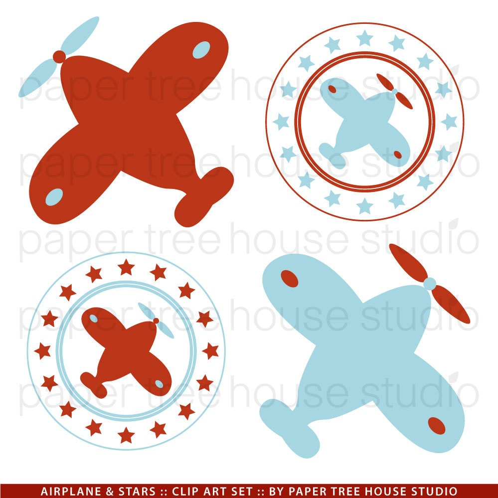 Airplane Clip Art. Vintage Airplane Clipart. Airplane PNG ...