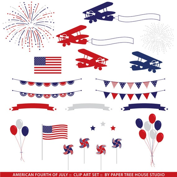 4th of July Clipart. Fireworks Clipart. Patriotic Clip Art ...