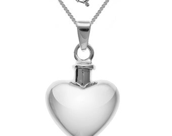 7de13600f498c Ladies Childs Small Heart Locket Necklace 925 Sterling Silver