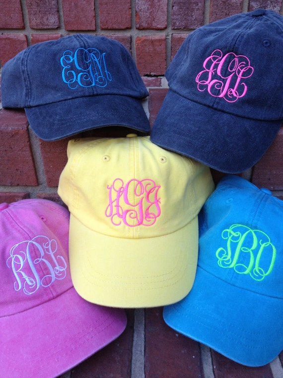 9e55f10d20a Monogram BASEBALL CAP-Graduation Gift Personalized Summer