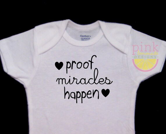 Funny Humor Cotton Custom Toddler T-Shirt Im Proof That Miracles Do Happen