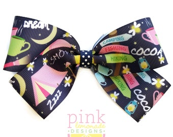Large Tent Camping Camp Hair Bow