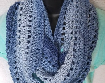 Crochet Infinity Scarf, 2 Colors to choose from