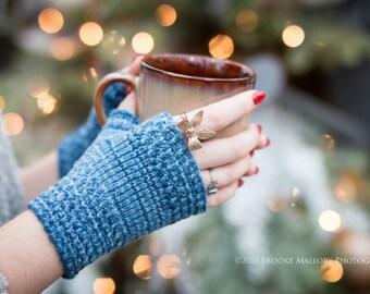 KNITTING PATTERN: Hand Knit Fingerless Gloves