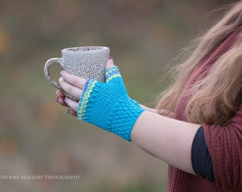 Hand Knit Fingerless Texting Gloves   Barbados