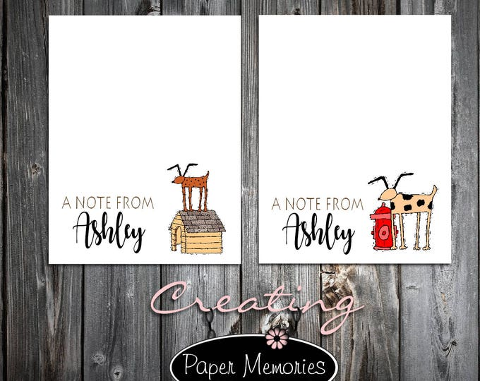 2 Dog Lovers Notepads - Personalized Stationery Set - Makes a great gift