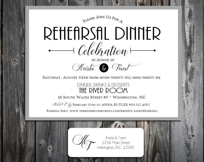 25 Rehearsal Dinner Wedding Invitations