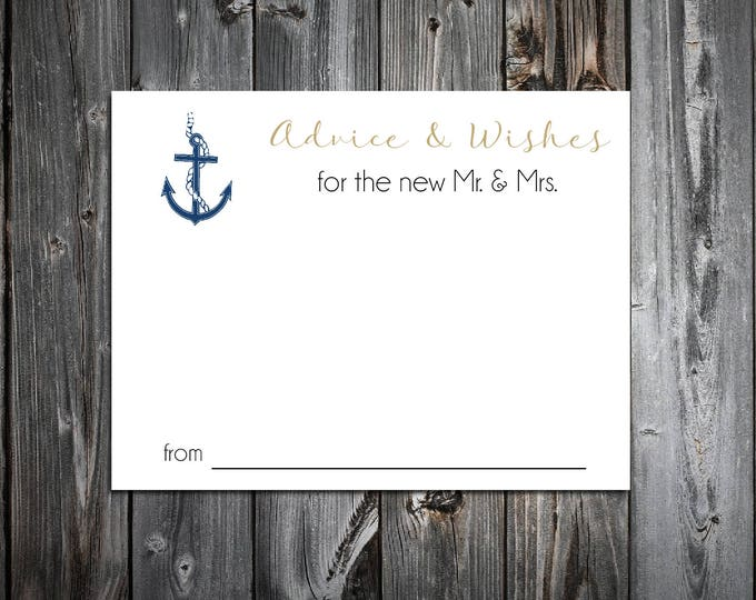100 Nautical Beach Anchor Advice and Wishes. Wedding Favors