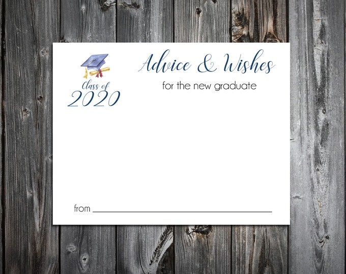25 Graduation Advice and Wishes.  Wedding Favors - Class of 2020