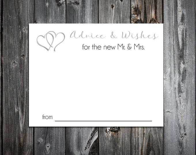50 Hearts Advice and Wishes.  Wedding Favors