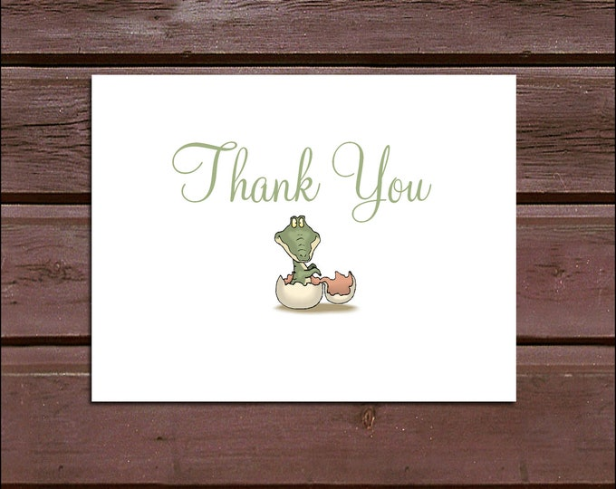 35 DINOSAUR Baby Shower Thank You Notes. Price includes printing.