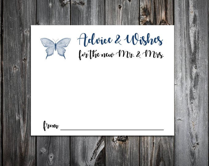 100 Butterfly Advice and Wishes.  Wedding Favors