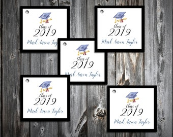 50 Graduation Favor Tags.  For favor boxes or favor bags.