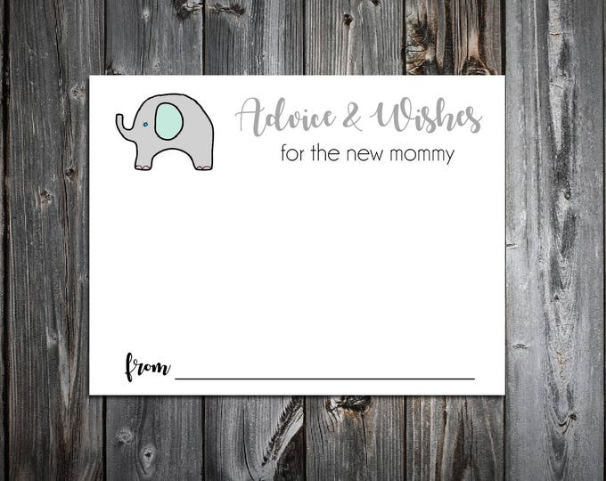 25 Green and Grey Elephant Baby Shower Advice and Wishes