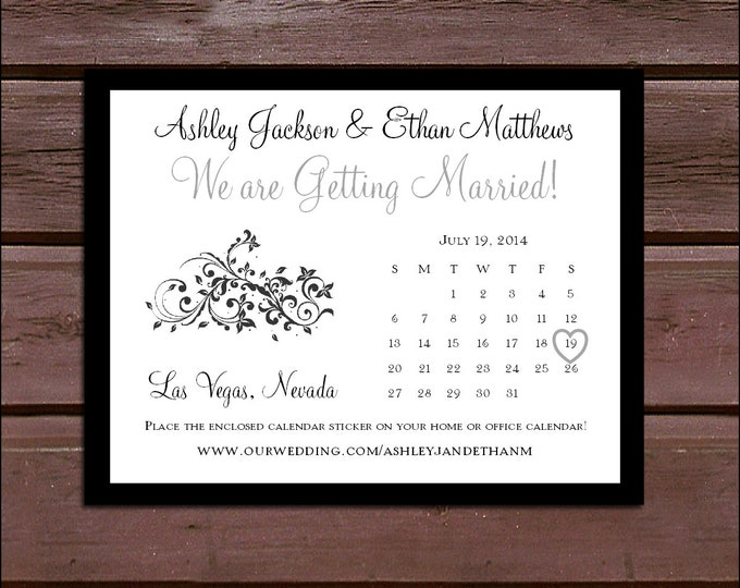 Damask Swirl Wedding Save the Date Cards Invitations