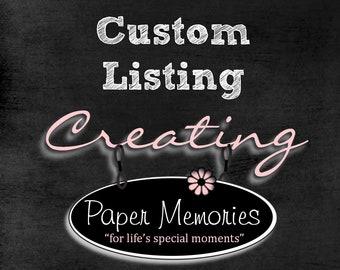 Custom listing for Deborah