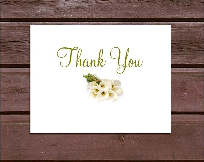 100 Calla Lily Wedding Thank You Notes