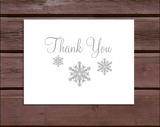 25 Snowflake Wedding Thank You Notes