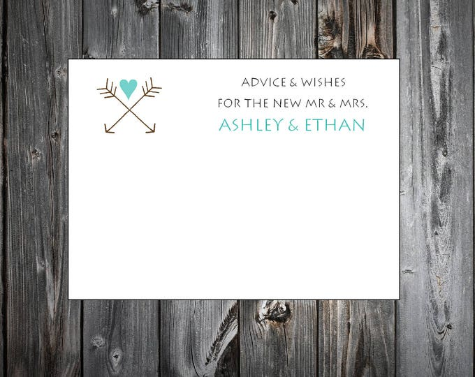 100 Arrow Advice and Wishes.  Wedding Favors