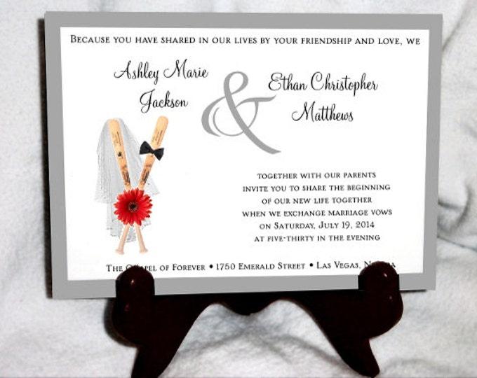 1800 Pieces Baseball Ultimate Set Wedding Invitations, RSVP's, Reception Insert w/ FREE Calendar Stickers