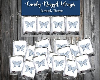 100 Butterfly Candy Wraps - Wedding Favors