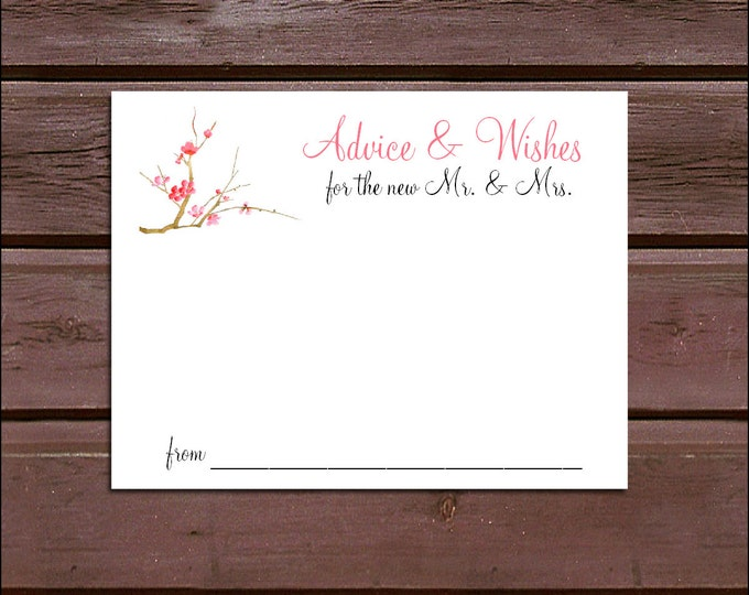 100 Cherry Blossom Advice and Wishes.  Wedding Favors