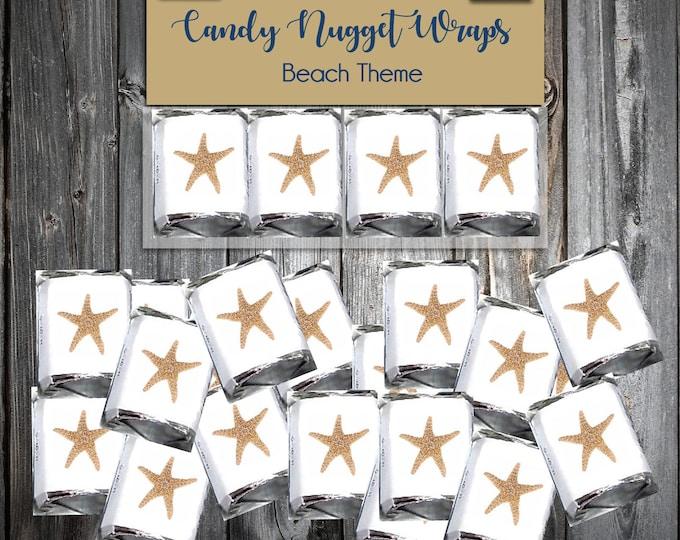 100 Beach Starfish Candy Wraps - Wedding Favors