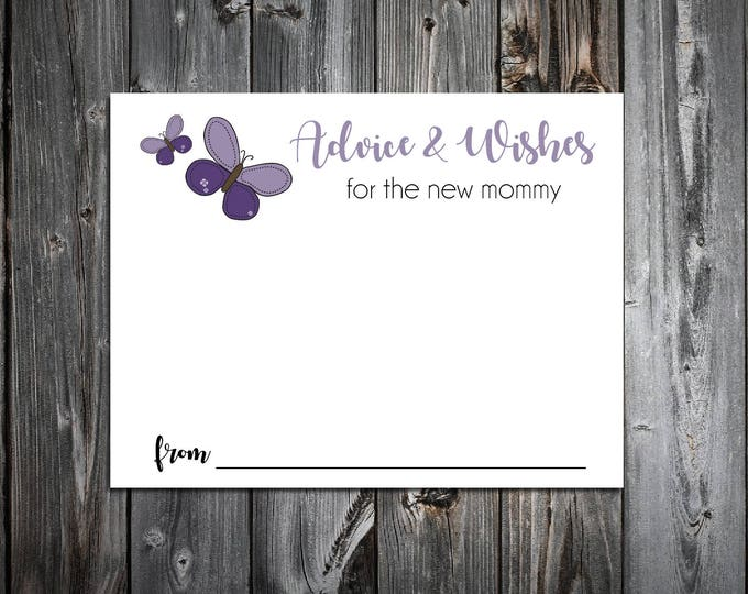 25 Purple Butterfly Baby Shower Advice and Wishes