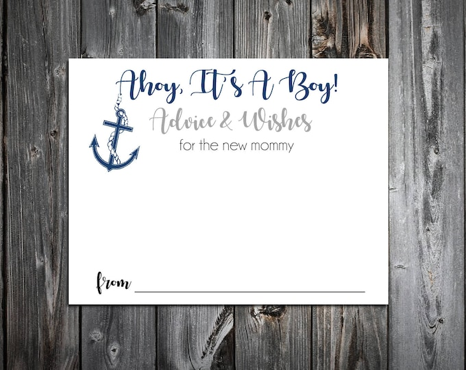 25 Nautical Ahoy It's A Boy Baby Shower Advice and Wishes
