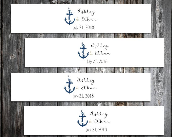 100 Nautical Beach Anchor Wedding Invitation Belly Bands Wraps