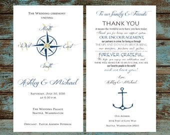 Wedding programs printed Etsy