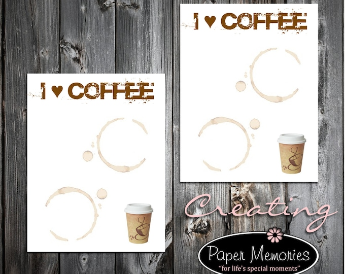 Coffee Lovers Notepad Set Personalized Stationery Set- 2 Notepads - Makes a great gift -