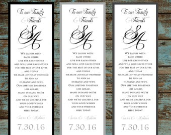 Monogam with Ampersand 50 Wedding personalized and printed Bookmarks Favor