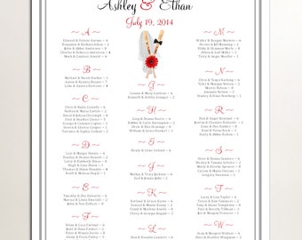 Baseball Seating Chart for Table Assignments for your Wedding Reception - Printable PDF File
