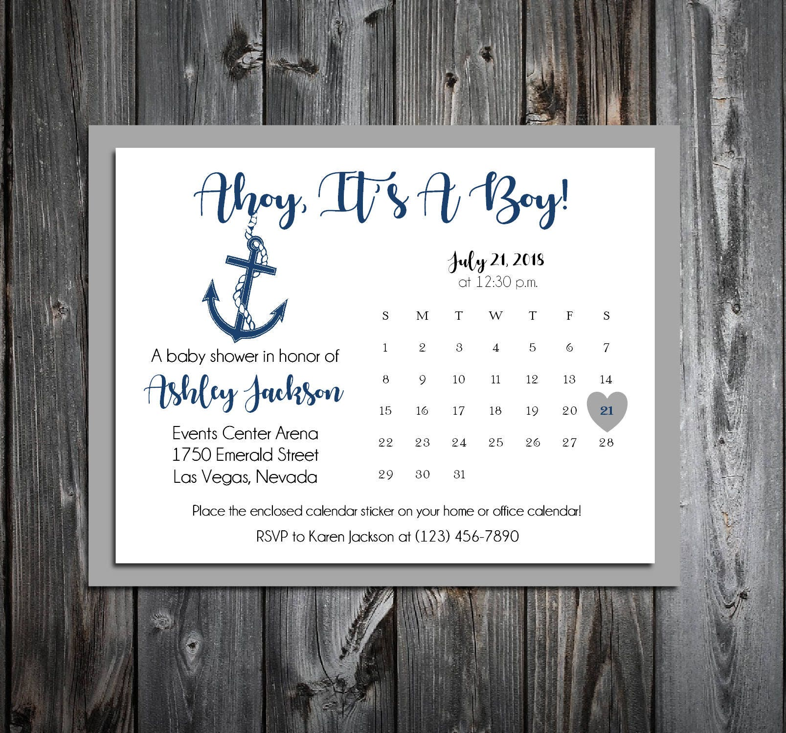 25 Nautical Ahoy Its A Boy Baby Shower Invitations set Price