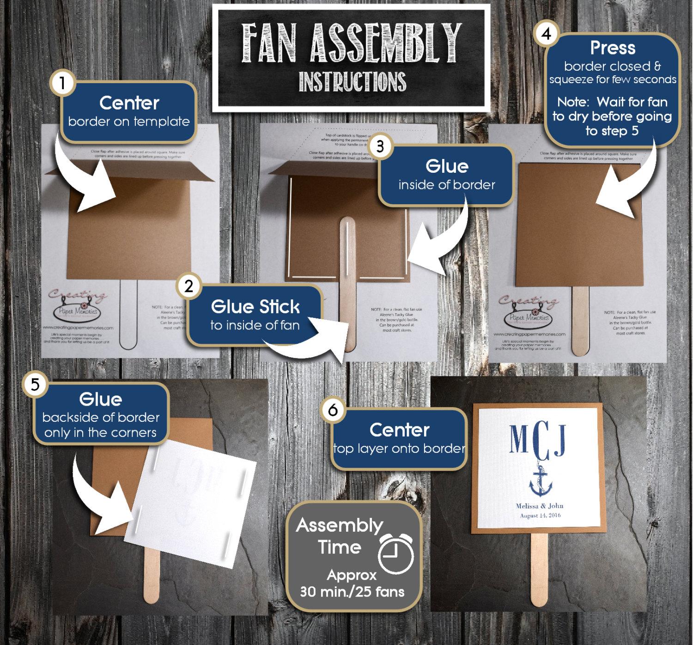 fall leaf program fans kit printing included wedding ceremony