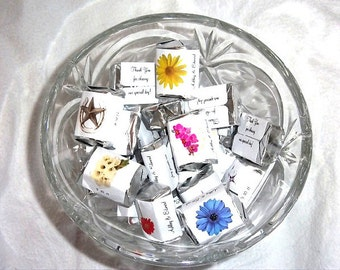 100 Orchids Candy Wraps Favors. Includes printing.
