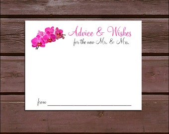 100 Orchids Advice and Wishes.  Wedding Favors