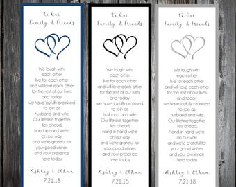 75 Hearts Wedding Bookmarks Favor