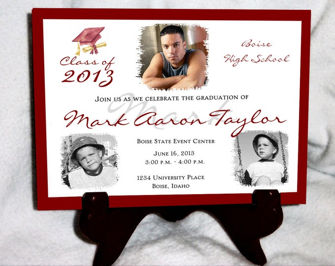 25 Graduation invitations ..... includes personalization and  printing