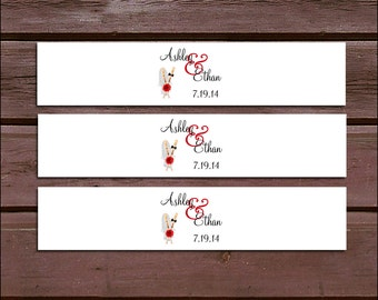 100 Baseball Wedding Invitation Belly Bands Wraps.  Includes personalization and  printing