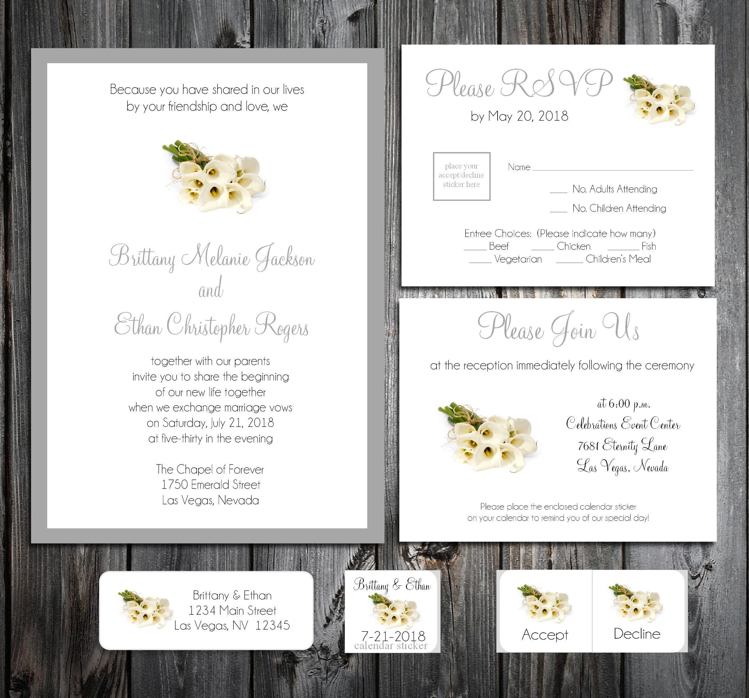 50 Wedding Invitations