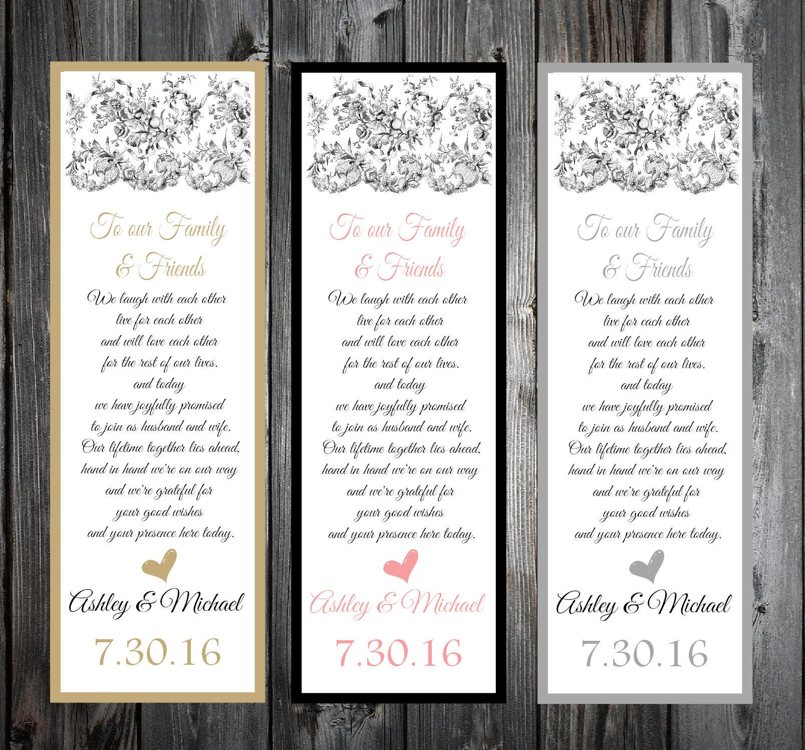 Lace And Burlap Rustic Theme 100 Wedding Personalized And Printed