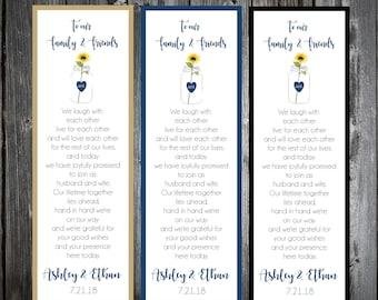 100 Mason Jar with Sunflower Wedding Bookmarks Favor
