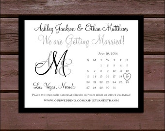 Monogram Wedding Save the Date Cards Invitations